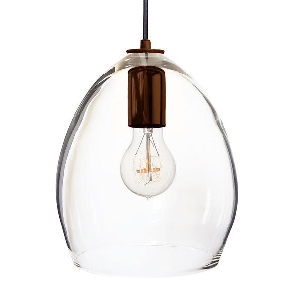 Hand Blown Clear Glass Pendant Light - Hammers and Heels  - 8