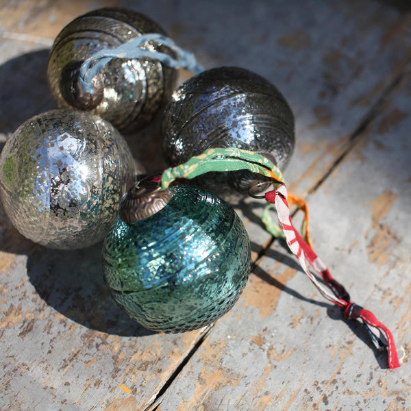 Recycled Glass Unique Embossed Ornaments - Hammers and Heels  - 2