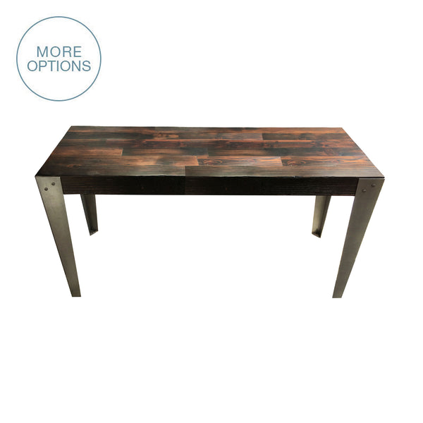 Reclaimed Wood U0026 Hand Welded Steel Industrial Dining Table Dining Table   USA Made. Custom