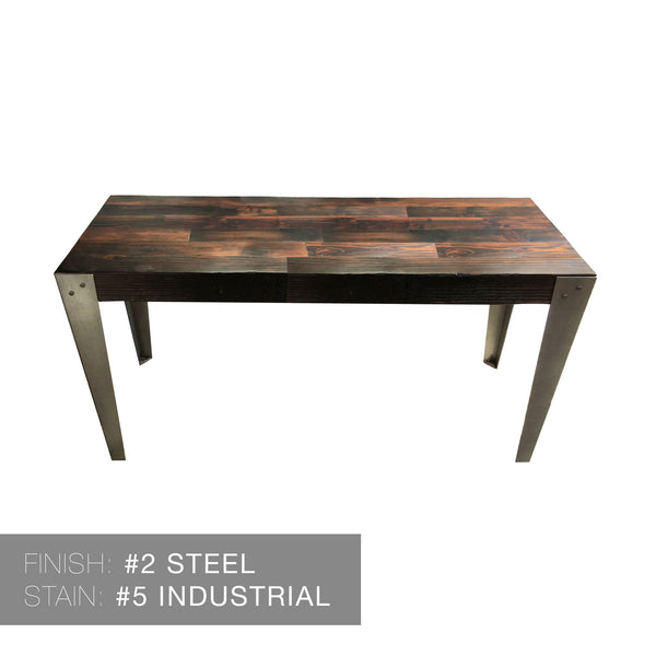Reclaimed Wood & Hand Welded Steel Industrial Dining Table Dining Table- USA Made. Custom. Exclusive. Quality Hammers and Heels