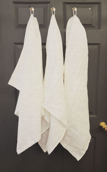 USA Made French Linen Bath Towel Pillow- USA Made. Custom. Exclusive. Quality Hammers and Heels