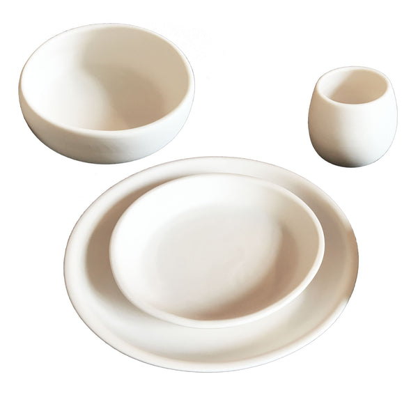 Matte Porcelain USA Made Coupe Dinnerware Set - Hammers and Heels  - 5