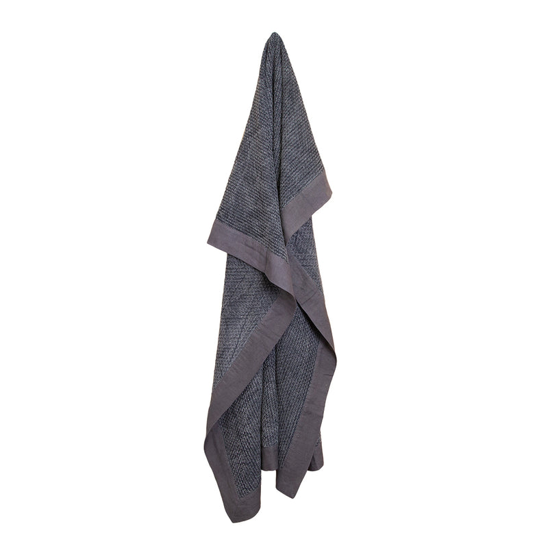 Taylor Jacquard Throw Charcoal