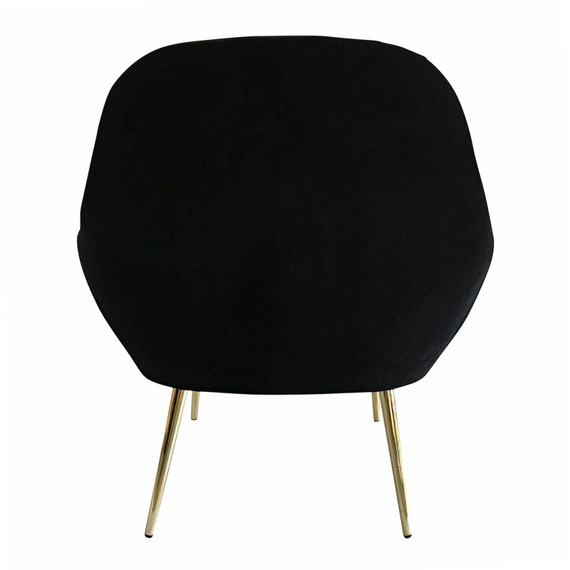 Laura Occasional Chair with Gold Legs -Navy