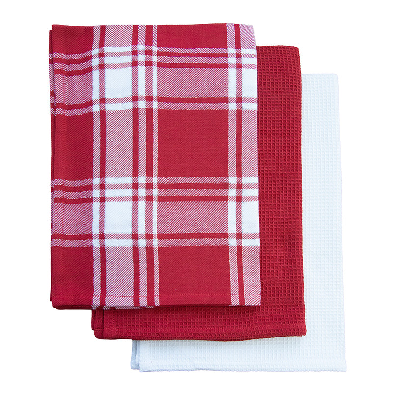 Festive Checks Tea Towel