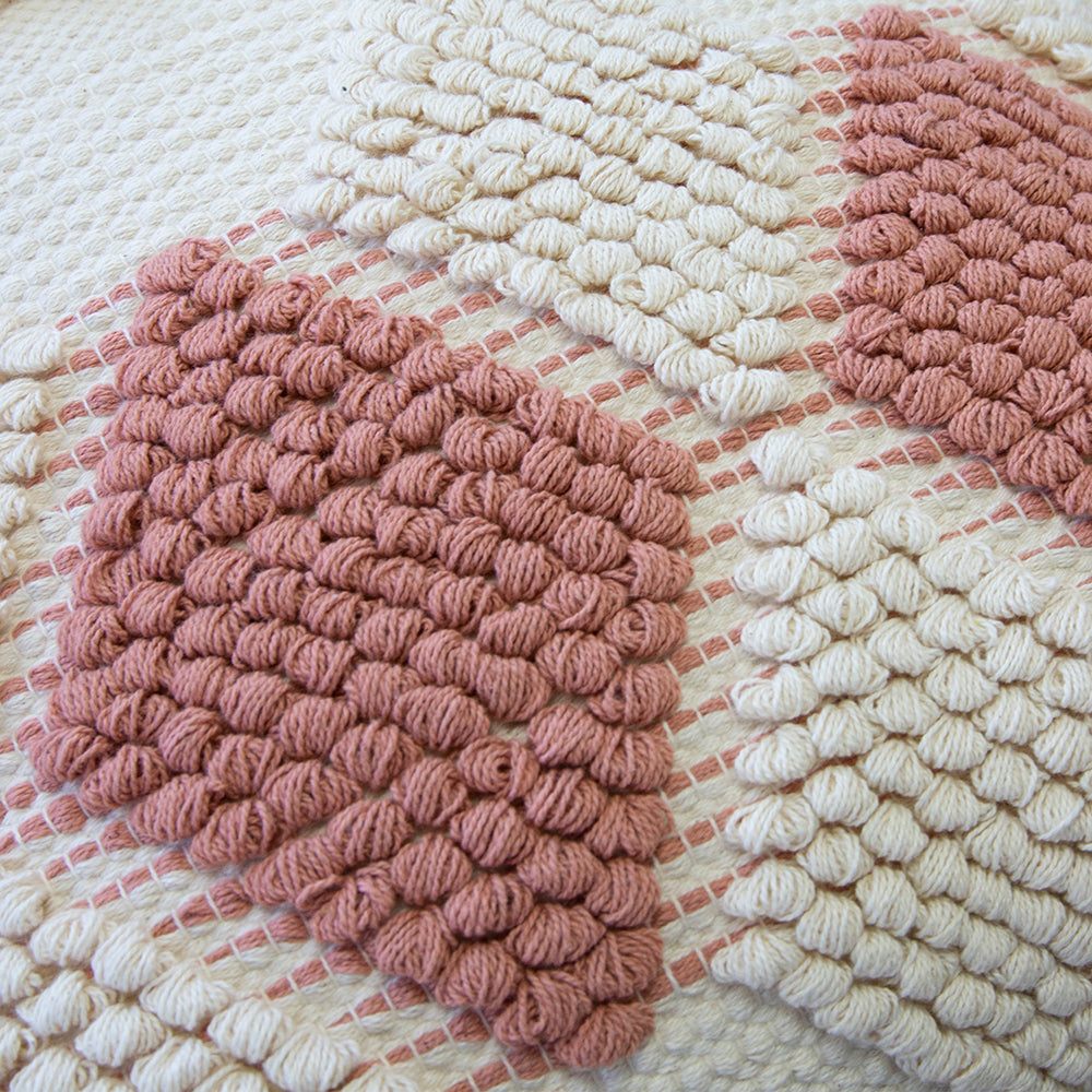 Addie Cushion Natural/Clay Pink 50cm x 50cm
