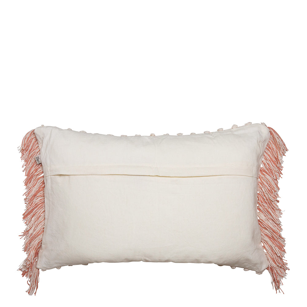 Bonnie Cushion Ivory/Clay Pink 35 x 55cm