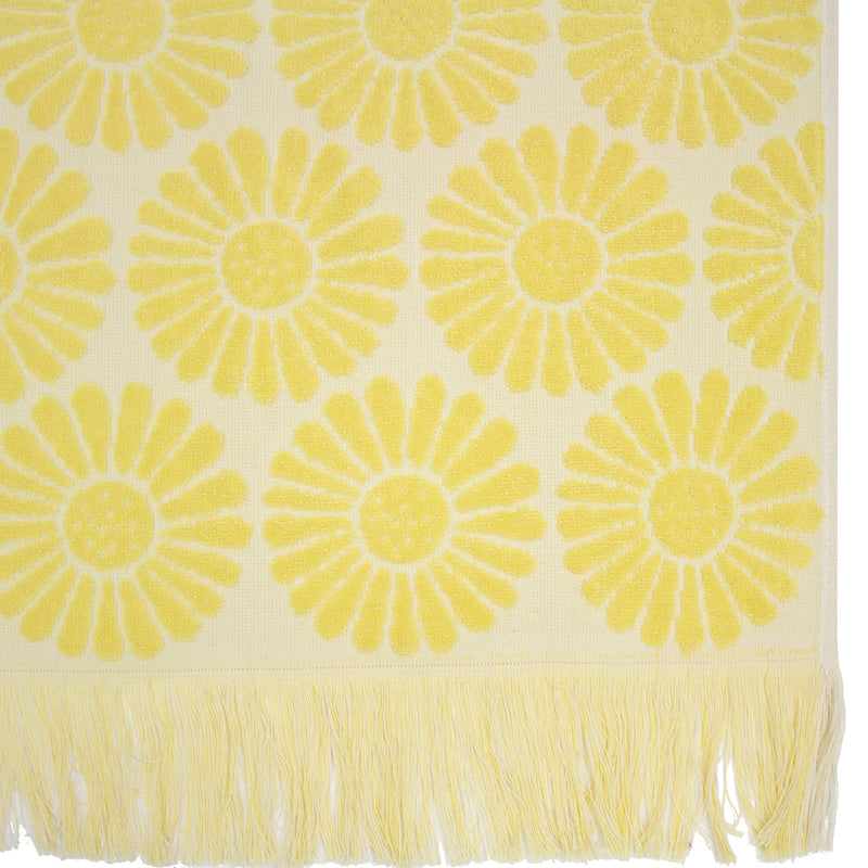 Daisy Towel Bisque
