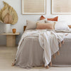 French Linen Quilt Cover Set, Pebble