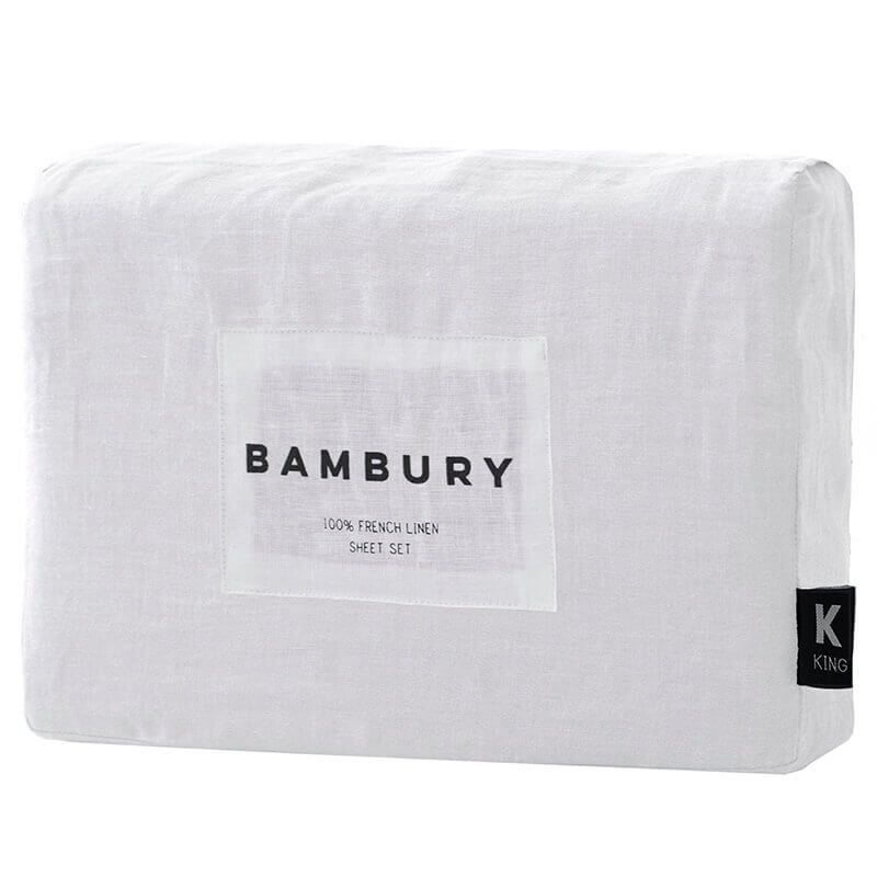 French Linen Sheet Set, Ivory
