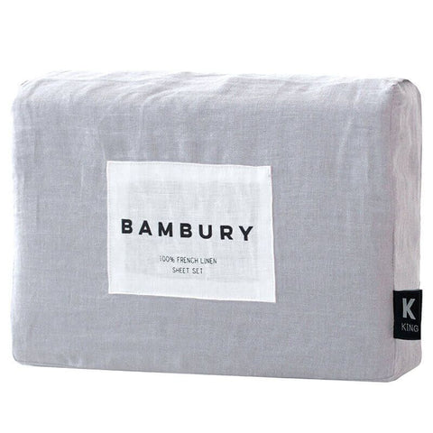 French Linen Sheet Set, Silver