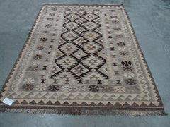 AFGHAN KELIM  FLAT WOVEN TRADITIONAL RUG SIZE. 153 X 191 CM    #1824