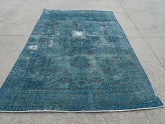SOLD---HANDMADE OVER DYED NATURAL COLOURS 194 X 285 CM HANDMADE RUG #4218