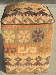 OTTOMAN MADE FROM AFGHAN KELIM  FOOTSTOOL HEIGHT: 45 CM WIDTH: 34   #303