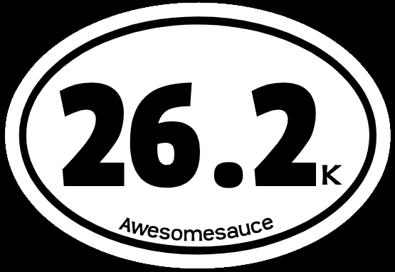 Race Distance Stickers