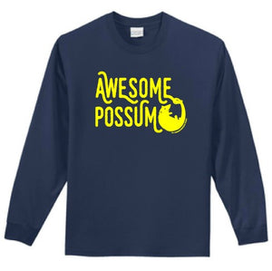 Awesome Possum Long Sleeve Cotton T=shirt
