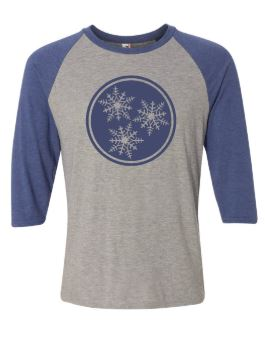 Tri-Star Snowflake Baseball Shirt