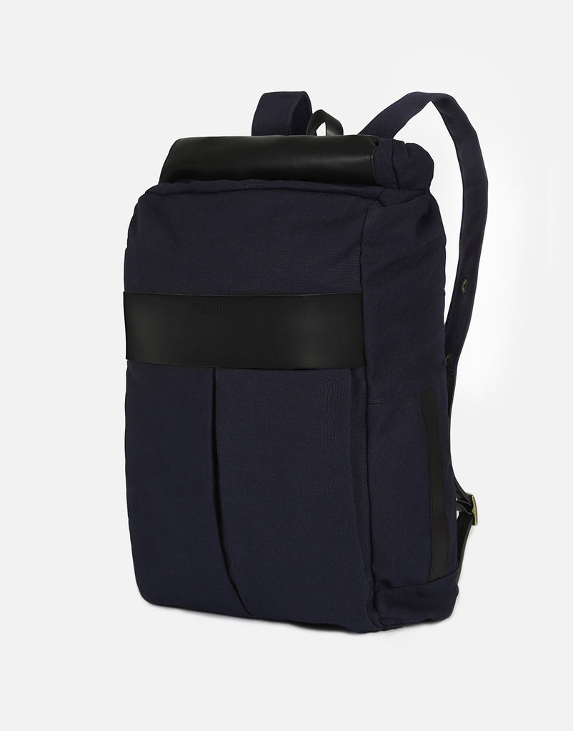 No. 7 - Roll Top Backpack, Dark Blue