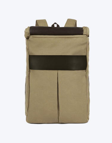 No. 7 - Roll Top Backpack, Beige