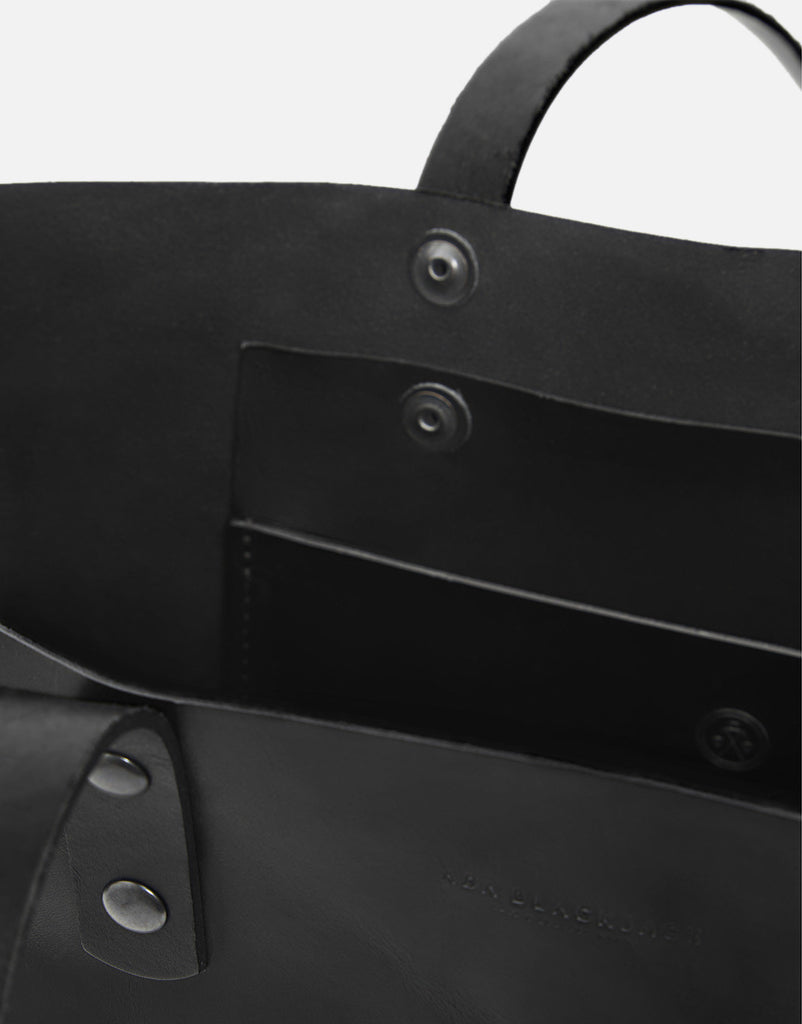 No. 14 - Leather Tote, Black