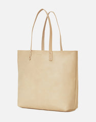 No. 14 - Leather Tote, Nude