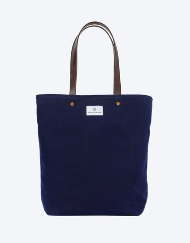 No. 9 - Slim Tote, Dark Blue