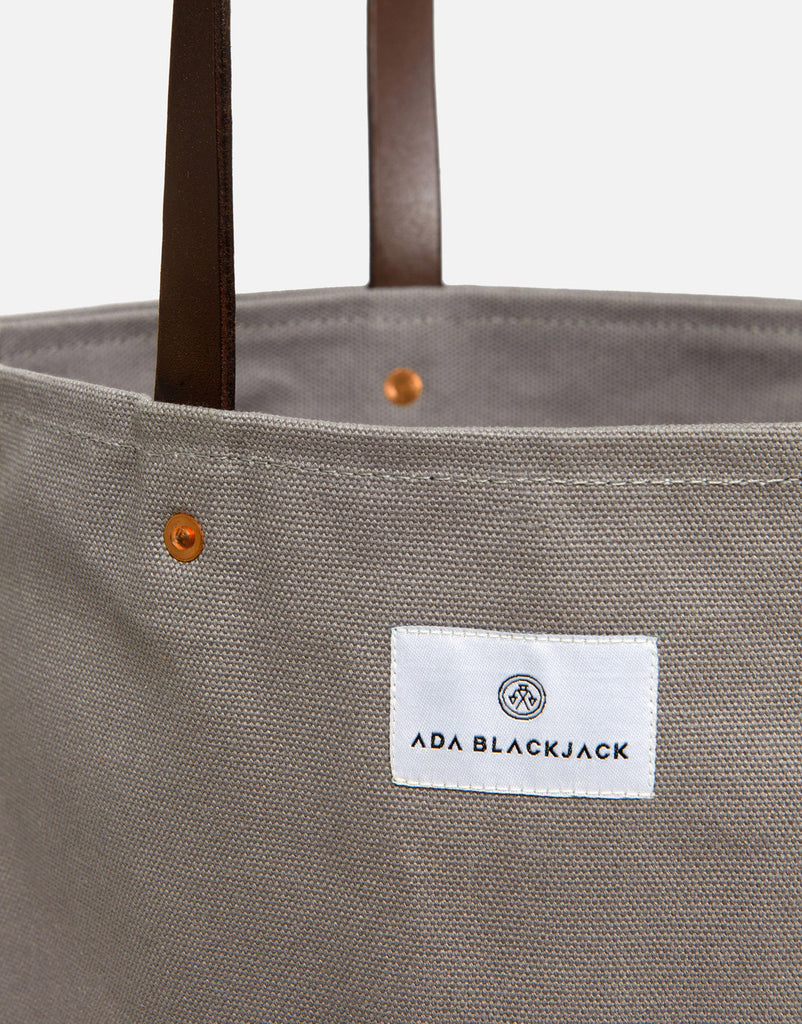 Ada Blackjack Grey Slim Tote