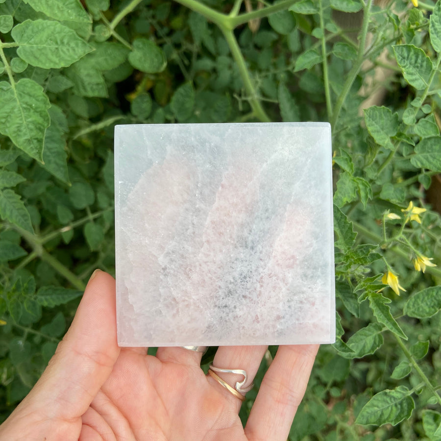 Selenite coaster/power plate