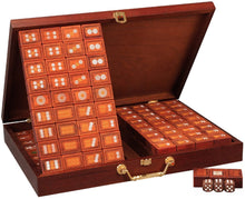 Load image into Gallery viewer, 高品質麻將 Mahjong Set 144 Unique Rose Wood Tiles for Christmas / Chinese New Year / Birthday / Home Decoration  CM005