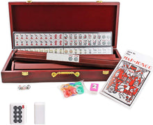 Load image into Gallery viewer, American Mahjong Set in Wooden Case ~ 4 Wooden Racks & Pushers Included , 166 Tiles M30MH