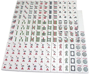 American Mahjong Set in Wooden Case ~ 4 Wooden Racks & Pushers Included , 166 Tiles M30MH