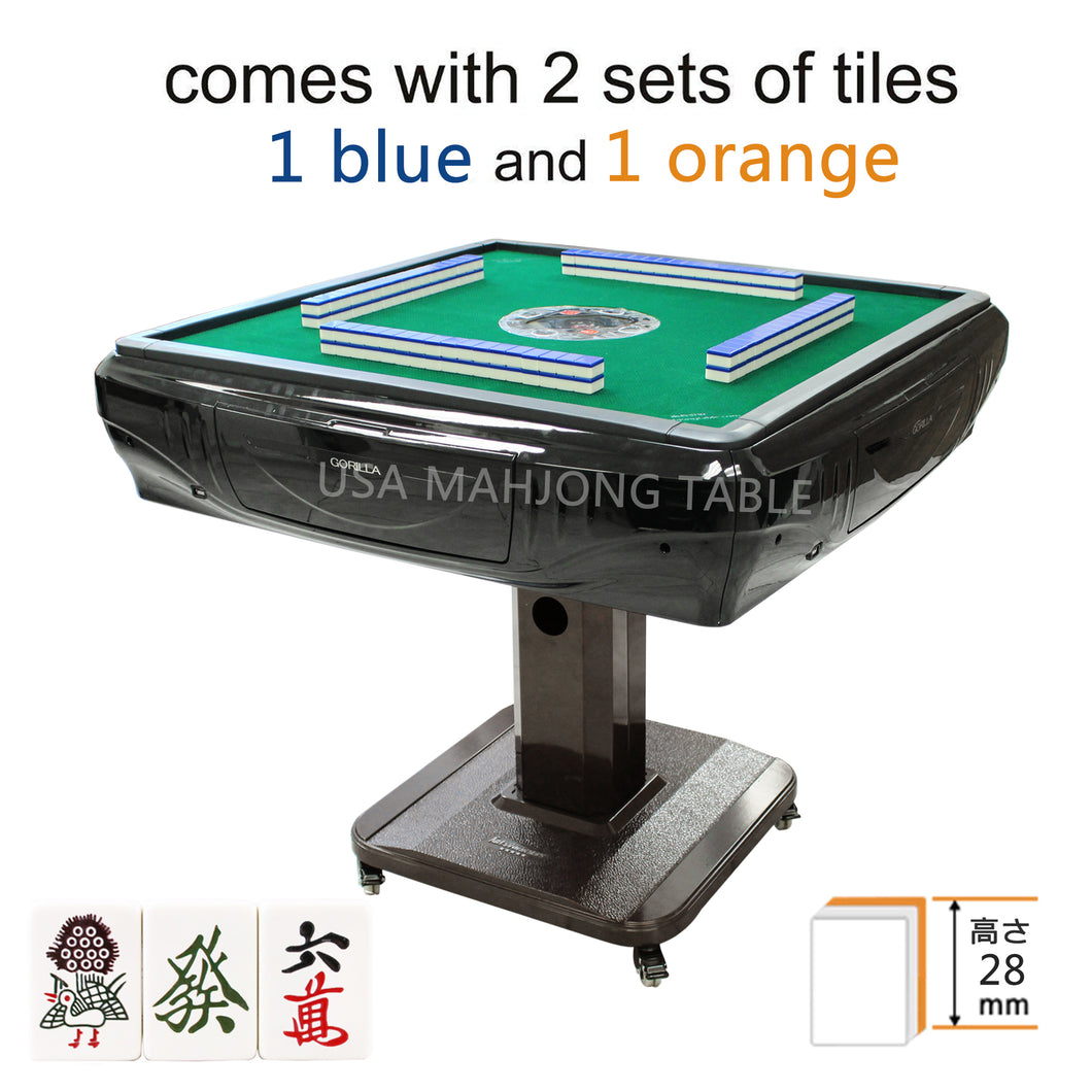 (28mm tiles) 電気麻雀卓 Japanese Mahjong 148 Tiles Unfolding Automatic Mahjong Table with Wheels