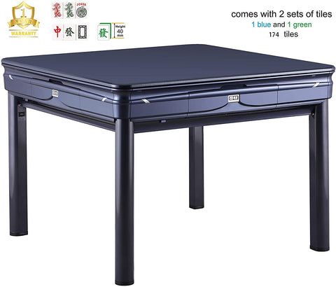 TRYHO ❘ Simple Style (Champagne/Blue) Automatic Mahjong Table