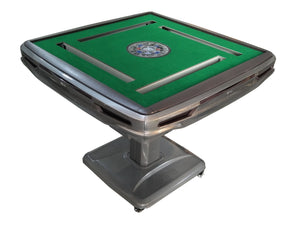THYHO Automatic Mahjong Table Gray Ultra-Thin Pedestal Folding Style with Tiles Electric Mah Jongg More Rounds No More Shuffling