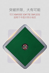 TRYHO 宣和电动麻将桌 Thin Piano Black Style 4-Legged Automatic Mahjong Table with 40mm Numbered Tiles (Green+Blue) Hard Tabletop Cover Chinese/Filipino/American Style All Fit No More Shuffling,More Rounds