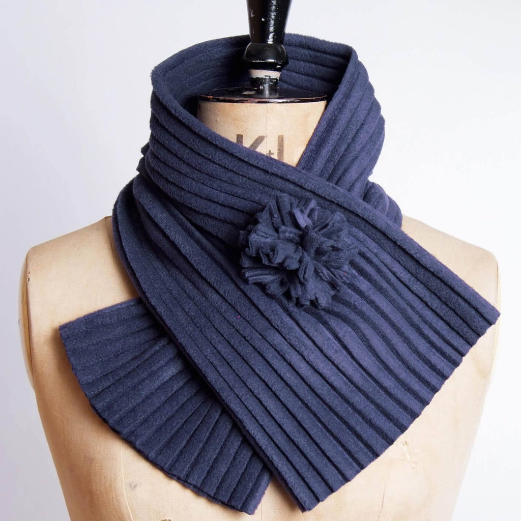 Navy Blue Pom Collar by Anna Falcke at The Bristol Shop