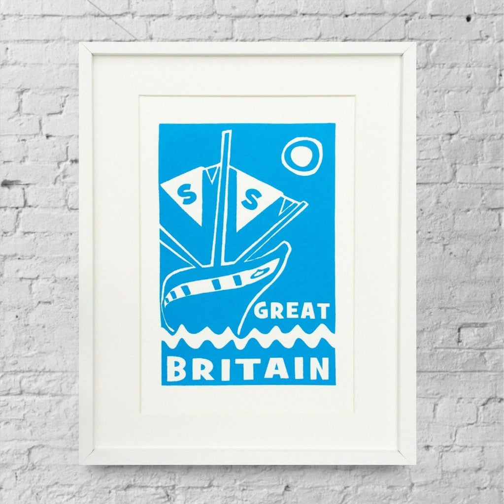 ss Great Britain Screen Print by Lou Boyce