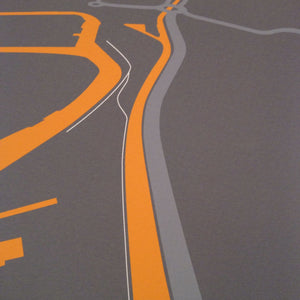 The New Cut, Bristol, Map illustration Giclée Print by Anna Francis | The Bristol Shop