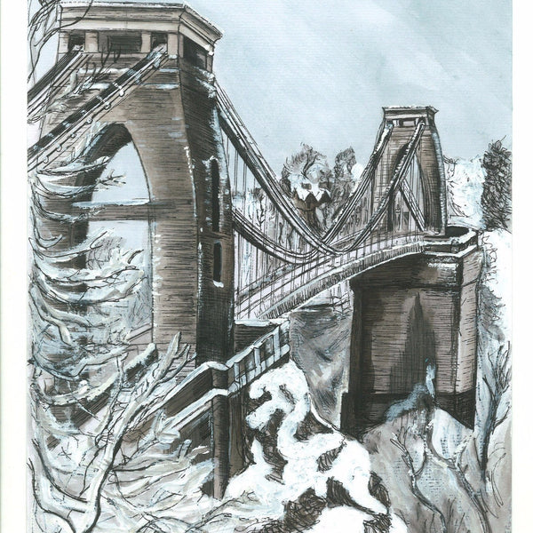 Clifton Suspension Bridge Greetings Card by Susie Ramsay | The Bristol Shop