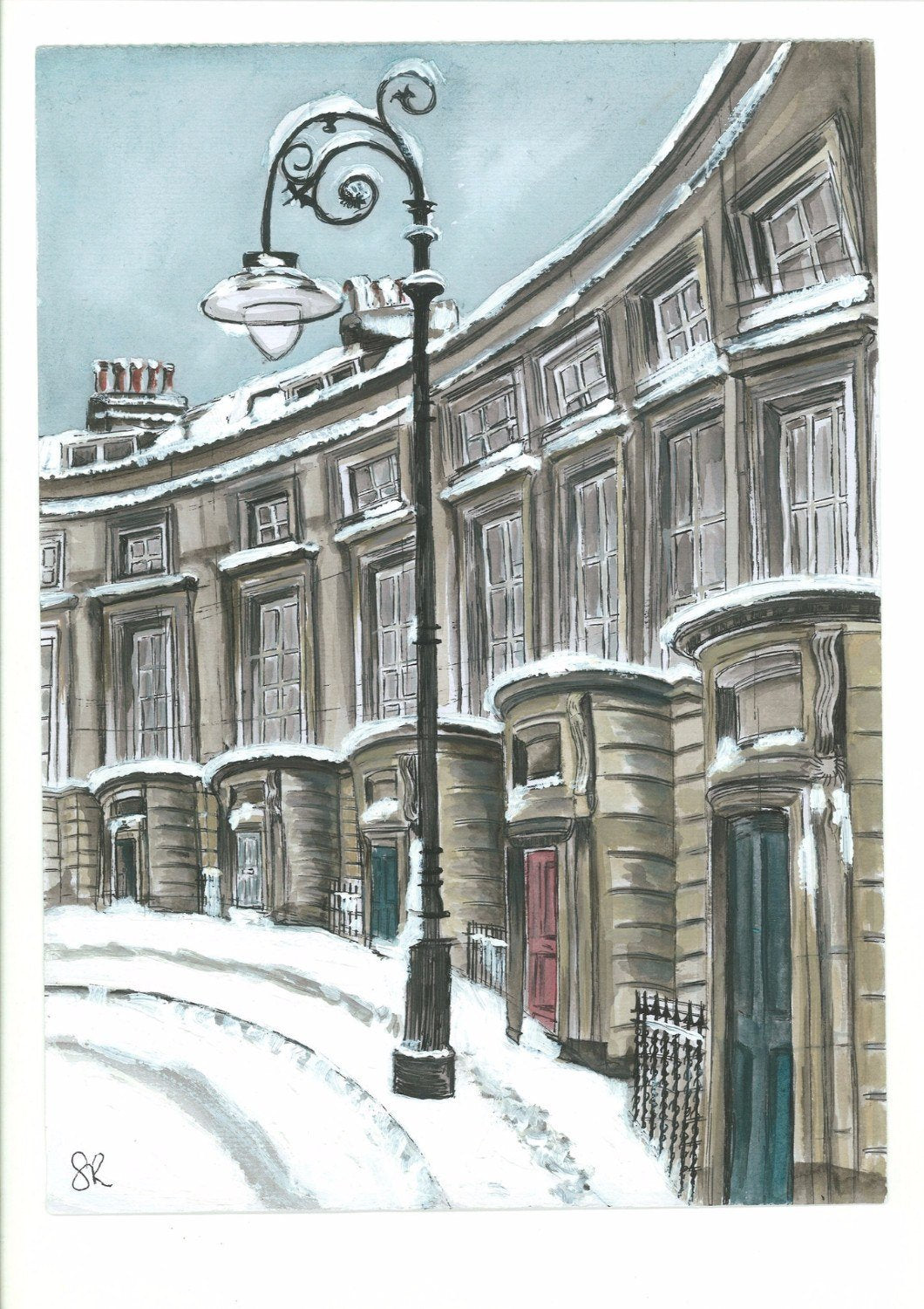 The Paragon Greetings Card by Susie Ramsay