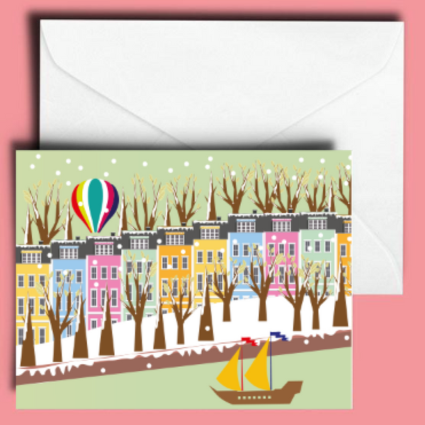 A6 Bristol Houses Greetings Card by Adriana Barrios | The Bristol Shop