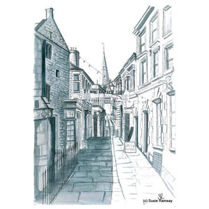 All Saints Lane Postcard by Susie Ramsay | The Bristol Shop