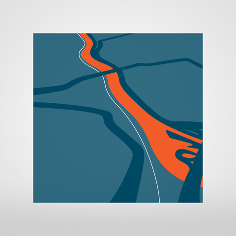 Avon Gorge, Map illustration Giclée Print by Anna Francis