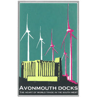 Avonmouth in Teal, Ltd Edition Screen Print by Abi Murray | The Bristol Shop