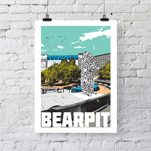 Bearpit Bristol, A4 or A3 Print by Susan Taylor | The Bristol Shop