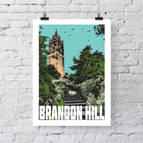 Brandon Hill Bristol, A4 or A3 Print by Susan Taylor | The Bristol Shop
