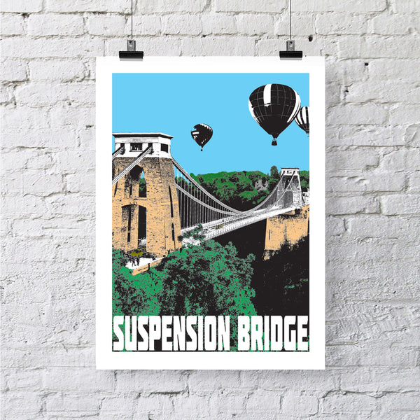 Clifton Suspension Bridge Bristol A4 or A3 Print by Susan Taylor
