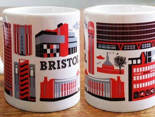 Urban Bristol Mug by Susan Taylor Art | The Bristol Shop