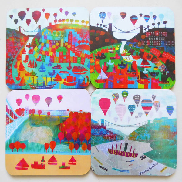 The Bristol Bridge - Pack of 4 Coasters by Jenny Urquhart | The Bristol Shop