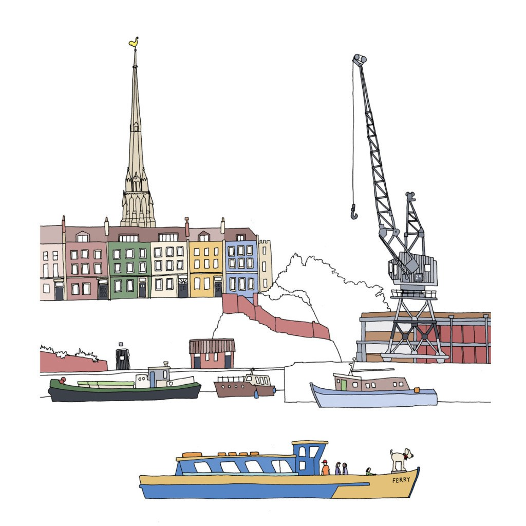 Bristol – Church, Crane, Craft - Giclee Print by Emily Ketteringham at The Bristol Shop